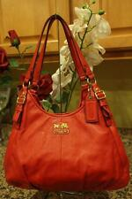 Coach Madison Leather Maggie Shoulder Bag Purse Tote 16503 RED (PU4000