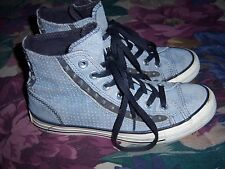 Womens Converse Gray Leather / Suede Hi Top Studded Sneakers Shoes Size 7.5