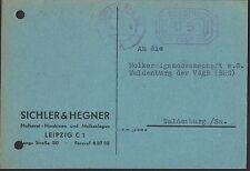 LEIPZIG, Postkarte 1957, Sichler & Hegner Molkerei-Maschinen Melkanlagen