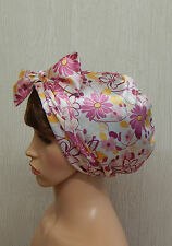 Satin headscarf sleep cap womens head covering natural hair bonnet head wrap