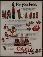 1968 COCA COLA - Christmas Decorations On Cartons Of COKE - Santa - VINTAGE AD