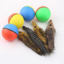 Dog Cat Weasel Motorized Fun Rolling Ball Pet Appears Jump Moving Alive Toy GU