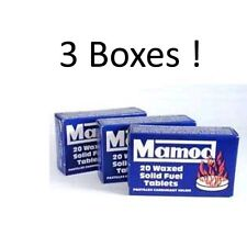 Mamod Steam Engine Waxed Solid Fuel Tablets - 3 BOXES - (60 tablets in total)