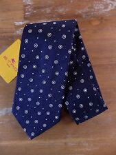 auth ETRO Milano navy blue silk tie - New with Tags