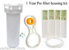 "Pre Filter Housing Kit/Standard 1 YEAR for 10""spun filter/RO/UV/water purifier"