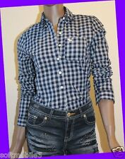 Abercrombie & Fitch Womens NAVY & WHITE CHECK Cami Shirt XTRA SMALL XS