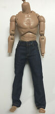 Custom 1/6 Scale Slim Fit Straight Navy Jeans B For Hot Toys Regular Type Body