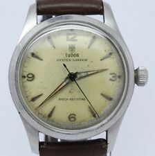 VINTAGE Tudor Oyster London ref.4463 Mens Steel Manual Watch c.59 Original Cond