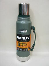 New Stanley Classic Vacuum Bottle Stainless Steel Flask Jar 1L Green