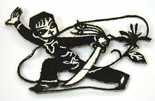 MARTIAL ARTS NINJA WARRIOR Embroidered Iron Sew On Cloth Patch Badge  APPLIQUE