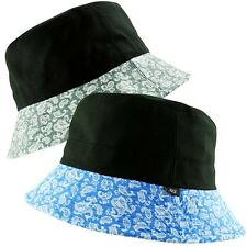 ITZU Co. 2 in 1 REVERSIBLE - BLACK / BANDANA PAISLEY BRIM  BUCKET BUSH HAT
