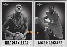 (2)2012-13 LEAF METAL '60 STYLE: BRADLEY BEAL/MOE HARKLESS ROOKIE RC INSERT LOT