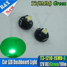 2x LED T3 8mm Neo Wedge 39397 HID Green Dashboard Cluster Speedo Instrument Bulb