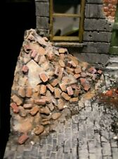 120mm Brick Rubble piles  2 corner heaps 1/16th scale  diorama accessory