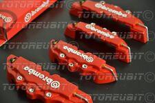 Set 4 copri pinza cover freni Brembo 3D copripinze ROSSO con scritta BIANCA