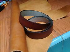 LEATHER BELT & STRAP BLANKS 2.2 mm THICK BROWN