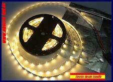 Tira de LED 5 metros. Blanco cálido, 20W. SMD 3528, 300 leds.