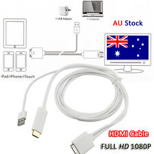 Dock to HDMI HD TV Cable with USB Charger For iPhone 4S Ipad3 iPad 2 3 iPod 4th