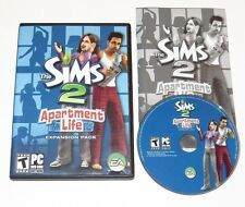 The Sims 2 Apartment Life PC Game 2008 Complete With Key Rare Expansion Pack