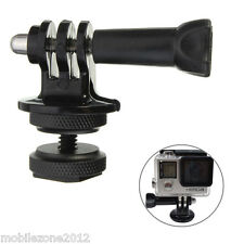 1/4'' Hot Shoe Adaptor +Tripod Mount +Screw GoPro Hero 2 3 3+ 4 5 DSLR Camera UZ