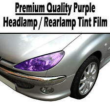 2 x A4 Sheets Purple Transparent Car Headlight Rear Lamp Tint Tinting Film