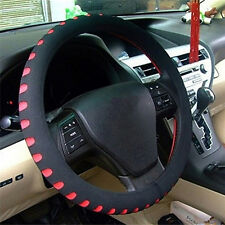 Universal OSAN Rubber PU Leather Auto Car Steering Wheel Cover Multi Color FTUK