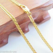 "J.Lee Pure 18K Yellow Gold Necklace - Classic 2.5mm Wheat Link Chain Au750 22""L"