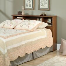 Queen or Full Size Bookcase Headboard Brown Wood Bed Room Furniture Teens Kids