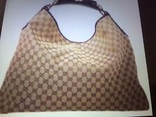 Authentic Gucci Classic Hobo Bag. Medium Size . Leather Horsbit Handle