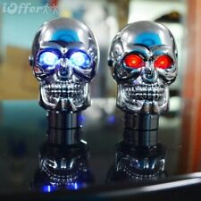 Shift Lever Knob Manual Shifter Gear Universal Skull Head LED Light Eye