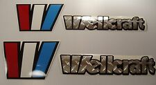 2 Wellcraft CHROME Diamond plate  Marine Vinyl free ship