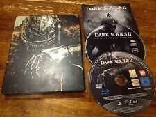 Dark Souls 2 II - Sony PS3 Rare 2 Disc Steelbook Edition Limited + Instructions