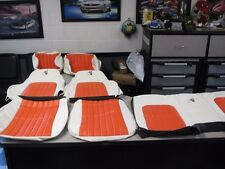 1997 30th Anniversary Chevy Camaro seat covers White with Orange inserts! NEW!