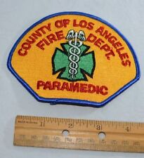 L.A. County Fire Dept Paramedic Vintage Patch Roy Desoto Emergency Fire Squad 51