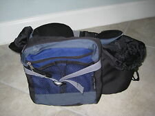 Black BLue Walking Hiking Traveling camping Waist Fanny Pack from Banff Canada