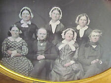 RARE 1/2 Plate Daguerreotype Group of Seven Mother of Pearl Case