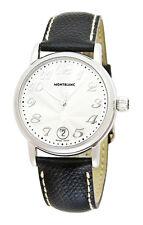 Montblanc 7249 Star Large Black Calf Straps Steel Case Men's Watch - Open Box