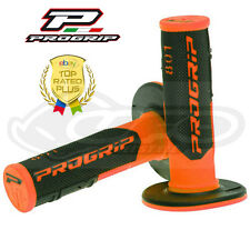 Pro Grip Progrip 801 Grips Flo Orange Black Motocross Half Waffle Soft Density