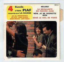 Orchestres PETIT BOURDIN BRÜCKER MENGO Disque 45T EP 4 Succès Edith PIAF Danse