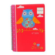 A4 Owl Notepad Spiral Pad - Book 80gsm Lined  Page Paper Notebook Tabbed