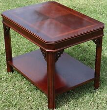 LANE Furniture  Banded Mahogany End Table Side Accent Table