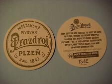 Beer Coaster ~  ~ PILSNER URQUELL ~ CZECH REPUBLIC Created First Golden Pilsner