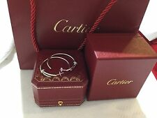100% Authentic Juste Un clou Cartier 18k white gold and diamond earrings.