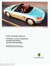 PUBLICITE ADVERTISING 056  1997  la Porsche Boxster & huile Mobil