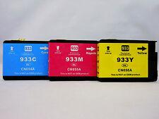 3Pk 933 XL 933XL C M Y Ink Cartridge for HP OfficeJet 6700 6600 6100 7610 7612