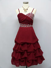 Cherlone Chiffon Red Prom Party Ball Evening Wedding Bridesmaid Formal Dress 16