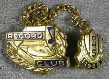 Vintage 1966 HHS Record Club Lapel Pin