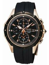 Seiko SNAF14 Coutura Alarm Chronograph Men's Quartz Watch Rose Gold Tone