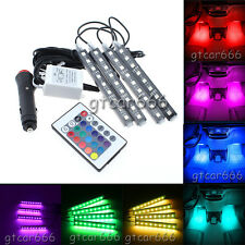 Full Color Glow LED Interior Car Under Dash Footwell Floor Strip Accent Light