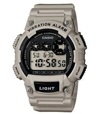 Casio Classic Watch * W735H-8A2V Digital Vibration Alarm Lt. Grey COD PayPal